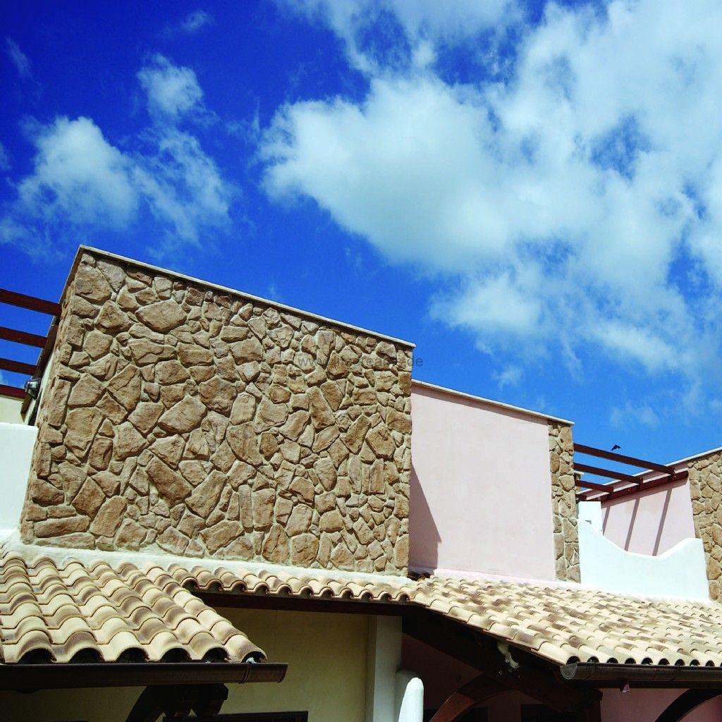 Übersicht kunststeine für eine mediterrane wandgestaltung