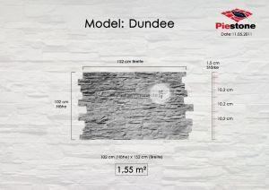 Kunststeinpaneele Dundee - Maßblatt