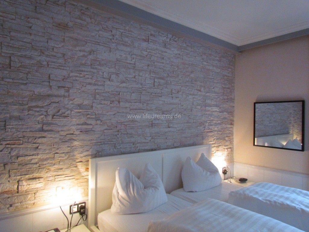Mediterrane Steinwand im Wohnzimmer - Lifedreams